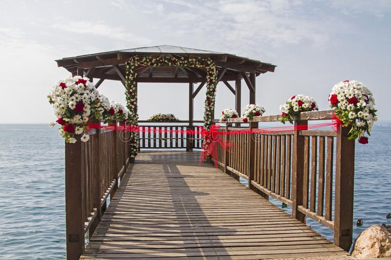 Wedding location on Lake Garda stock photo