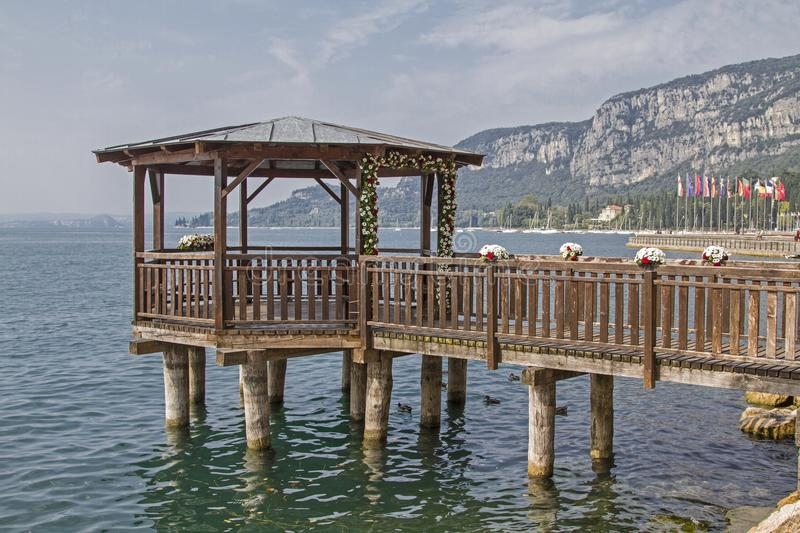 Wedding location on Lake Garda stock photography