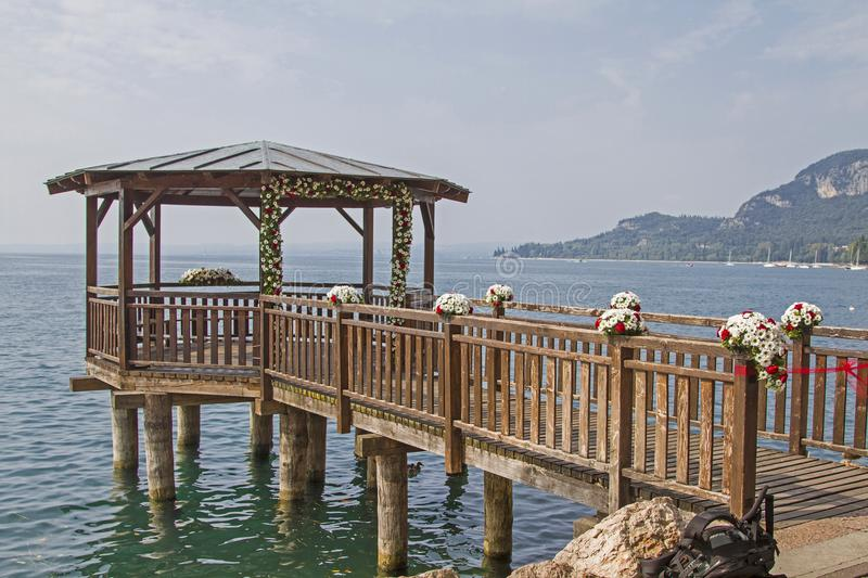 Wedding location on Lake Garda royalty free stock photos