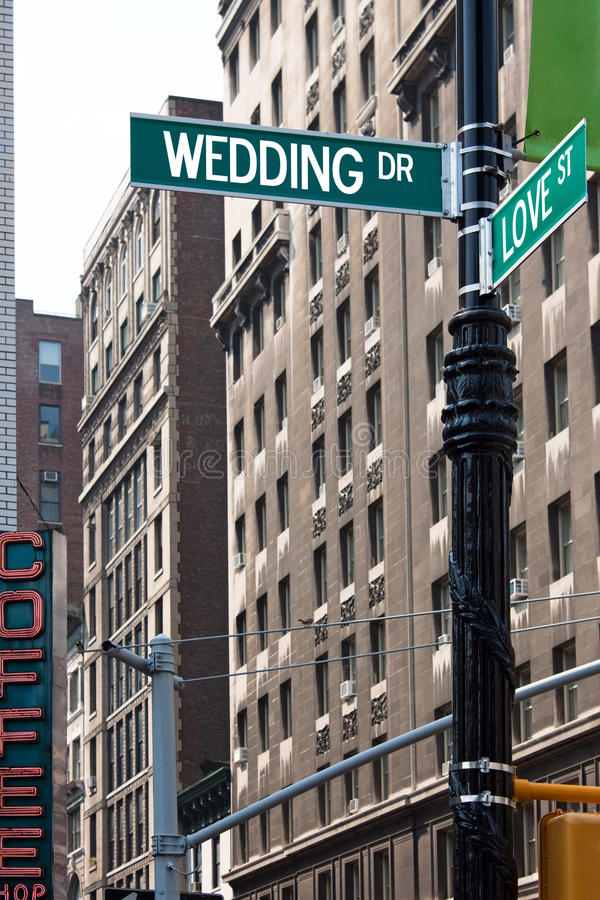 Free Wedding Love Street Signs Royalty Free Stock Photography - 16763867