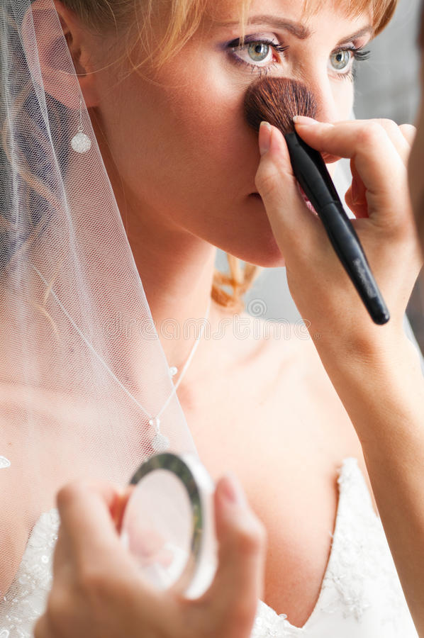 Wedding make-up stock images