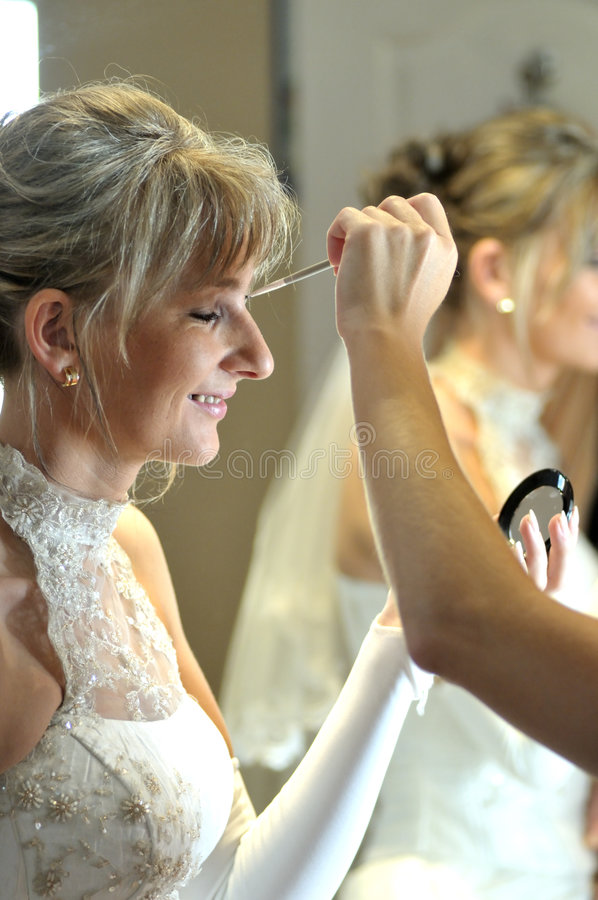 Download Wedding makeup stock image. Image of woman, expression - 7496587