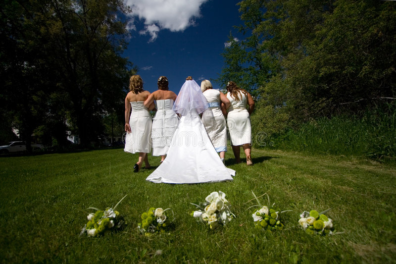 Download Wedding March stock photo. Image of marriage, walking, outside - 859040