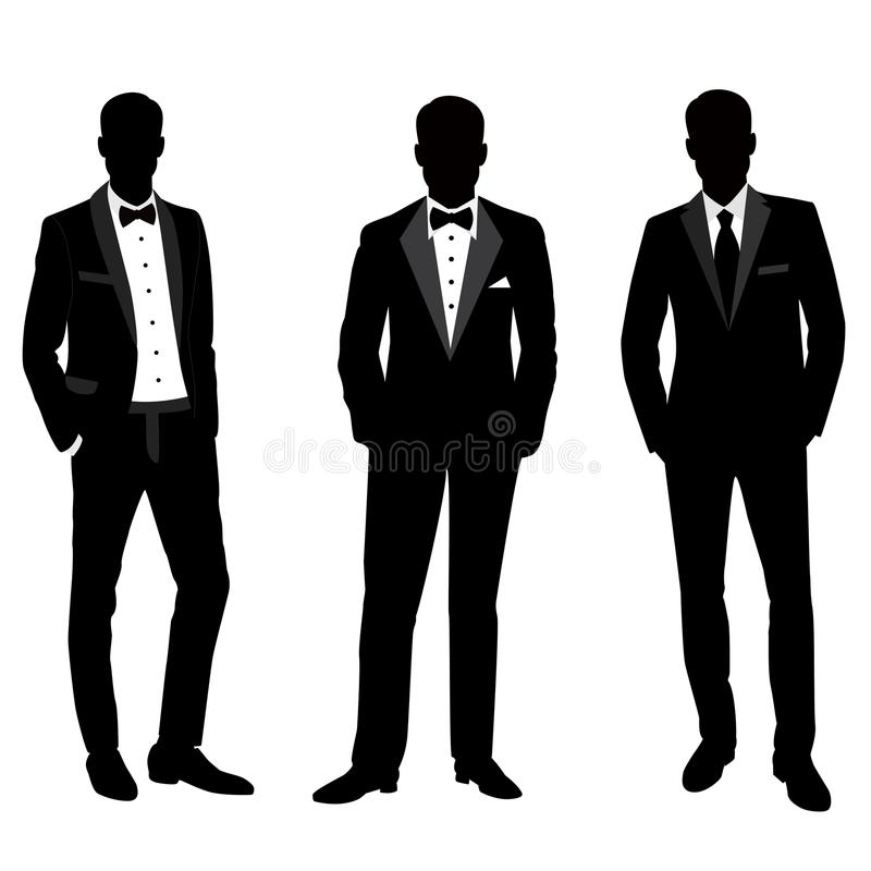 Wedding men`s suit and tuxedo. royalty free stock photography