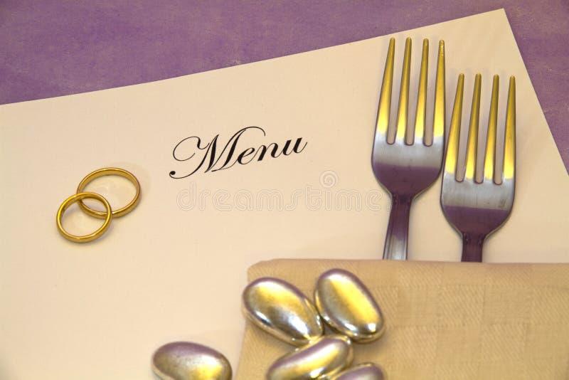 Download Wedding Menu stock image. Image of catering, gourmet - 16007533