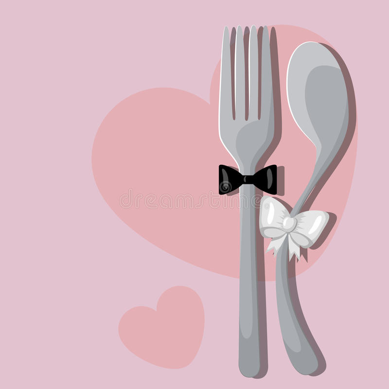 Wedding menu stock illustration