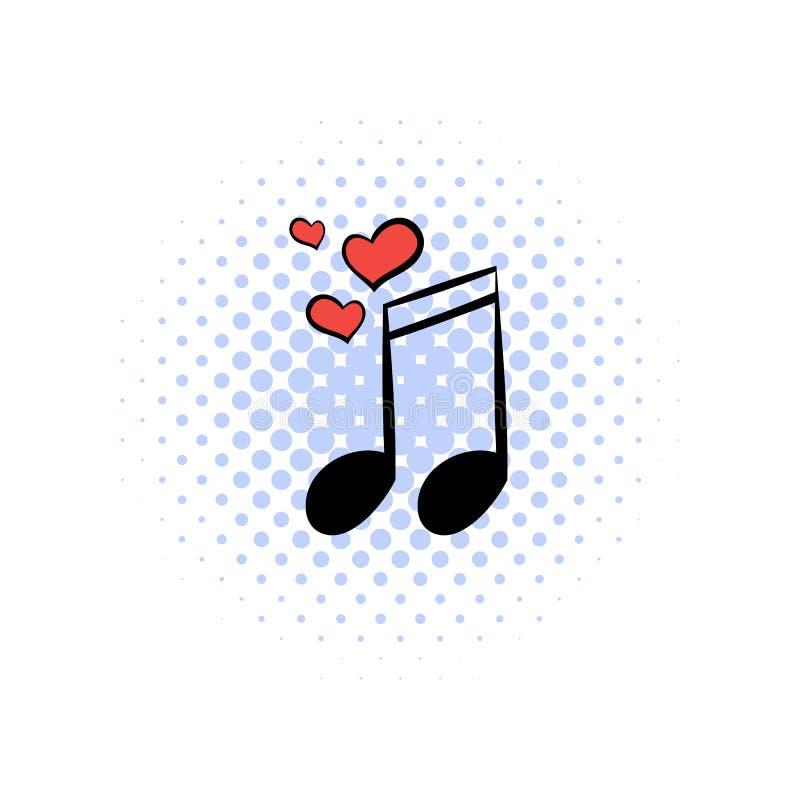 Wedding music comics icon. Isolated on a white background stock illustration