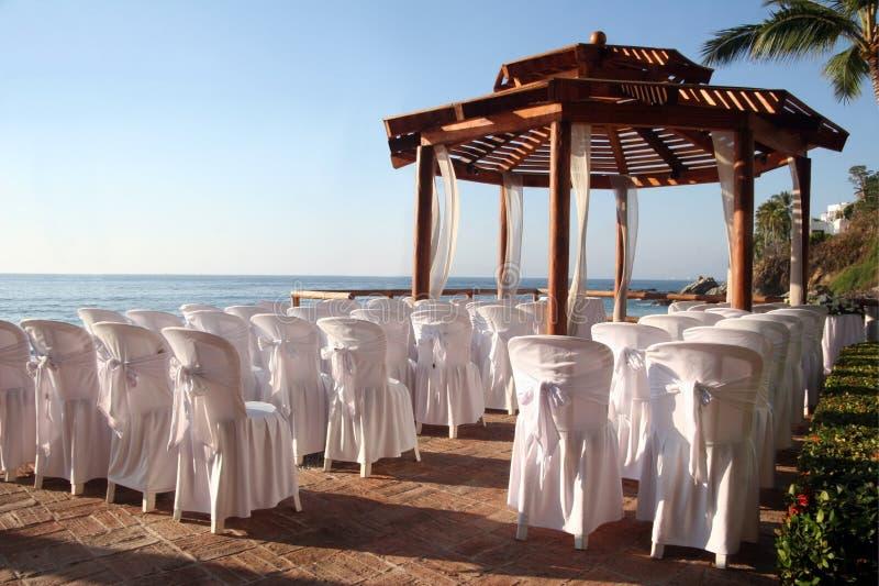 Wedding na praia imagem de stock