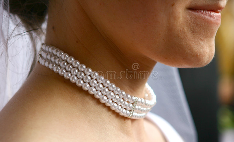 Wedding nacklace royalty free stock photos