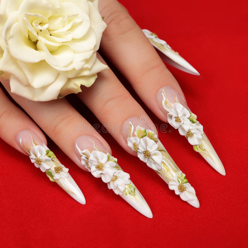 Wedding Nails Design Stock Image Image Of Decoration 50081695