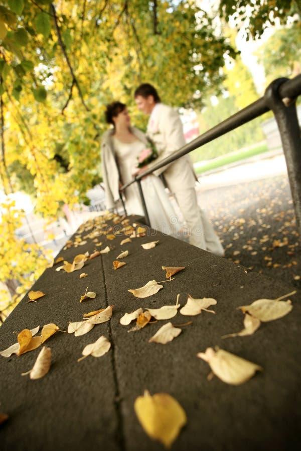 Wedding no outono fotografia de stock
