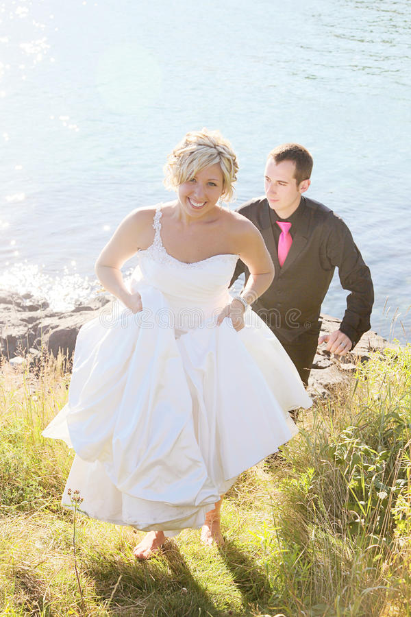 Wedding - noiva e noivo foto de stock royalty free