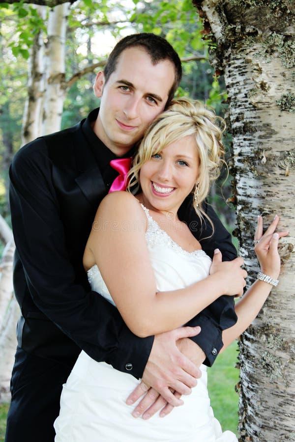 Wedding - noiva e noivo fotografia de stock royalty free