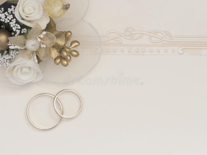 Wedding note royalty free stock photography