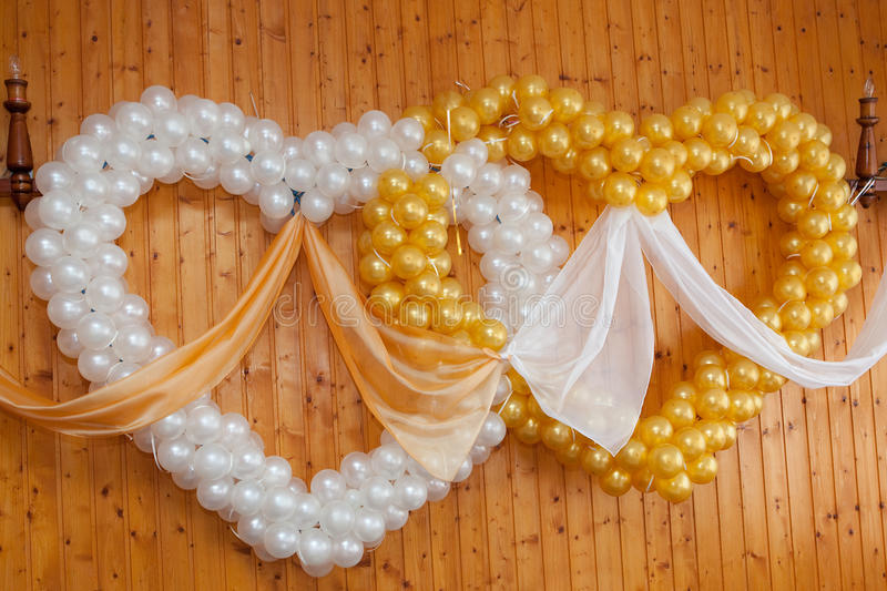 Wedding ornament from balloons royalty free stock photography