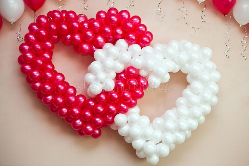 Wedding ornament from balloons stock photo
