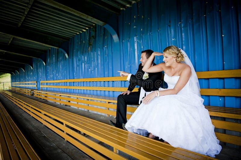 Wedding outdoor portraits royalty free stock image