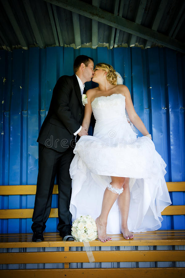 Wedding outdoor portraits royalty free stock images
