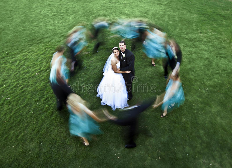 Download Wedding party stock photo. Image of bride, green, blur - 19293352