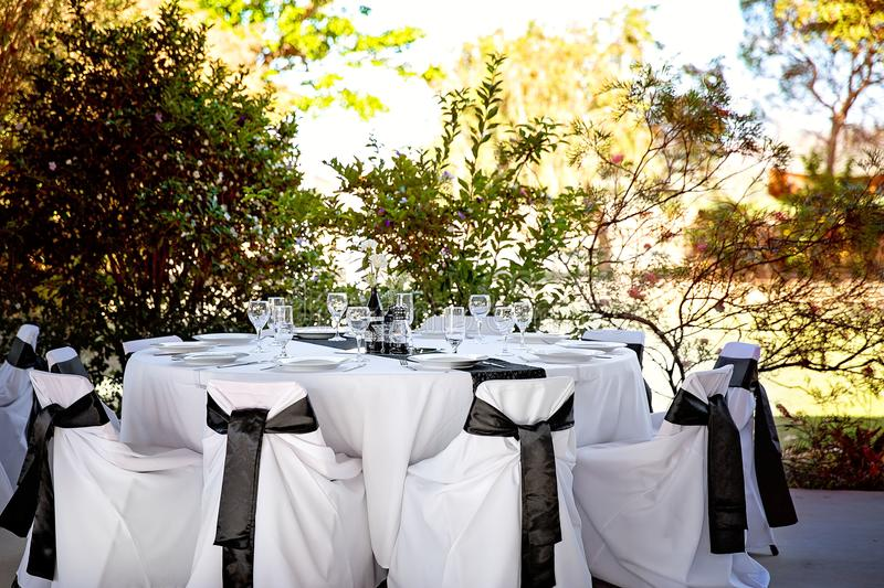 Wedding Tables In An Outdoor Bushland Setting Stock Image - Image of ...