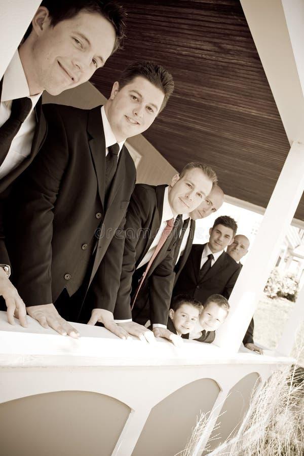 Wedding Party Groomsmen stock photography