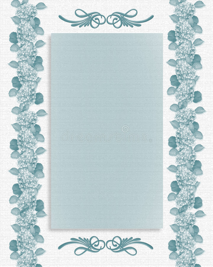 Download Wedding Or Party Invitation Floral Template Stock Illustration - Image: 6080147