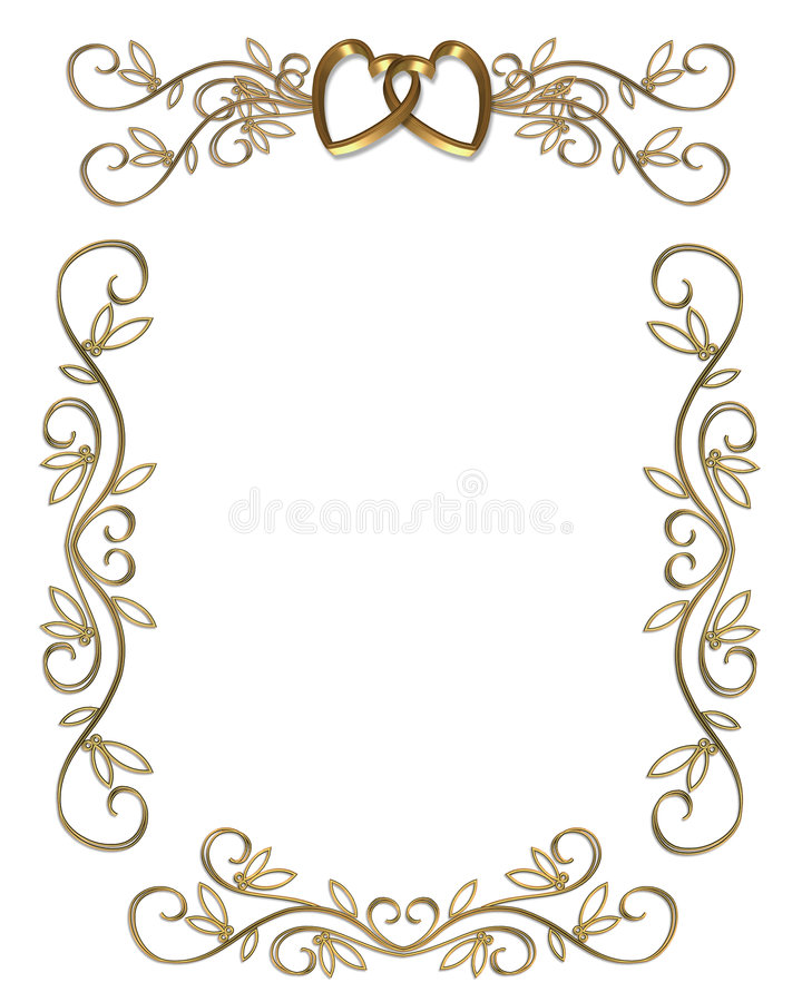 Wedding or party invitation gold border stock illustration download wedding or party invitation gold border stock illustration illustration of greeting delicate stopboris Image collections