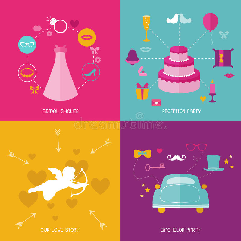 Free Wedding Party Set - Photobooth Props Royalty Free Stock Photography - 38872367
