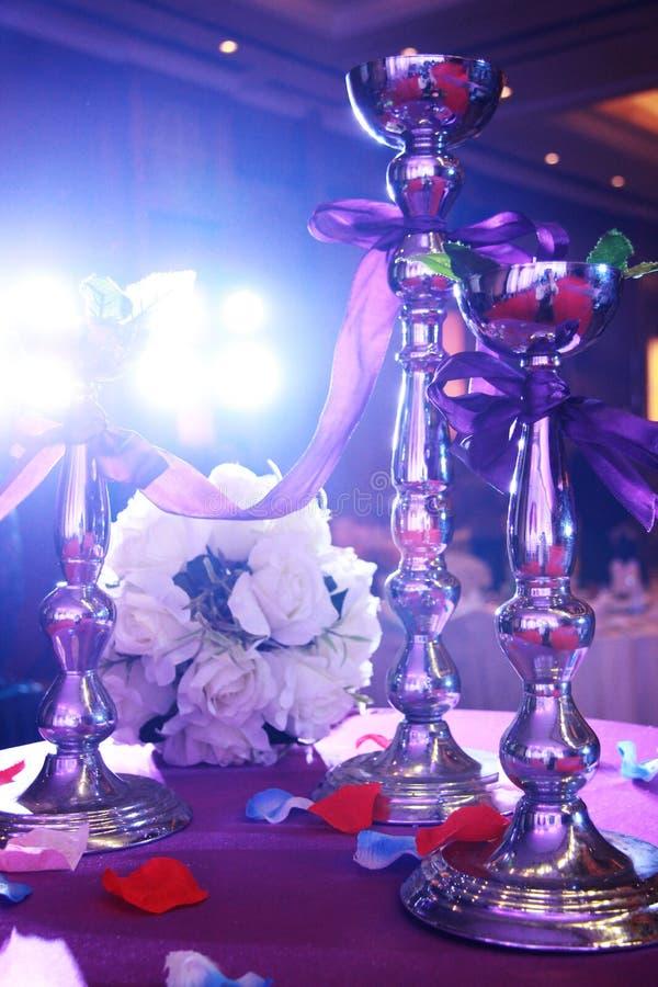 Wedding party table royalty free stock photos