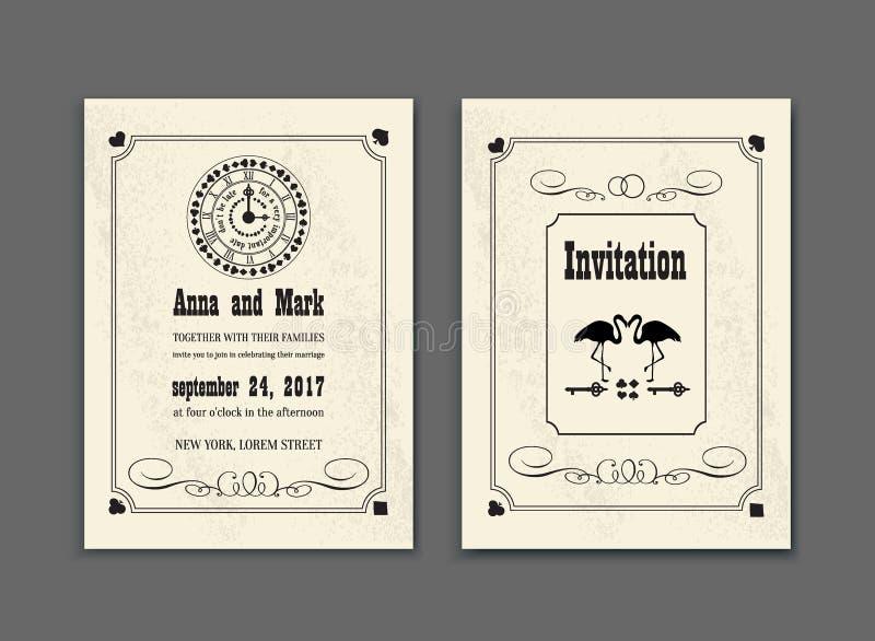 Alice In Wonderland Save The Date Card Vintage Invitation