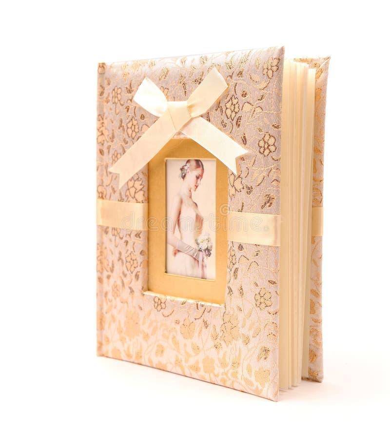 Wedding photo album stock photo