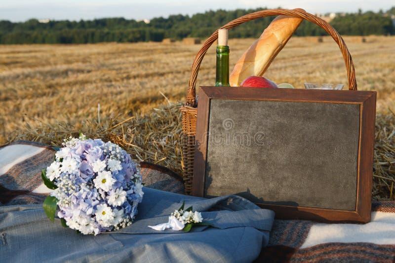 Download Wedding picnic stock image. Image of drink, blanket, flowers - 20759517