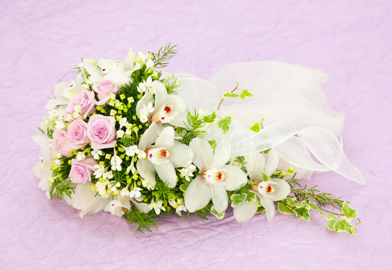 download wedding pink roses and white orchid bouquet royalty free stock photography image