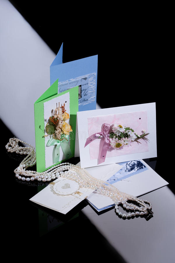 Download Wedding Postcards stock image. Image of document, handwriting - 12426437