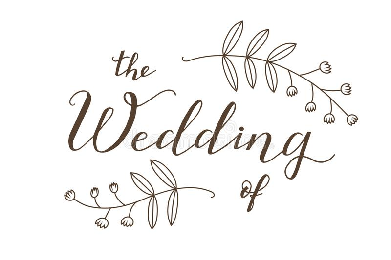 The wedding of poster stock vector. Illustration of print - 8