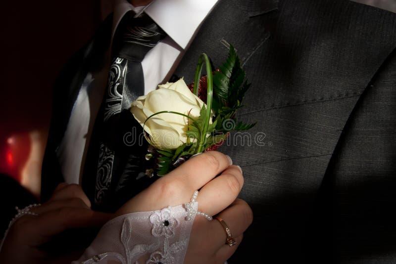 Download Wedding Posy On The Lapel Of Groom's Jacket Stock Photo - Image: 24315958
