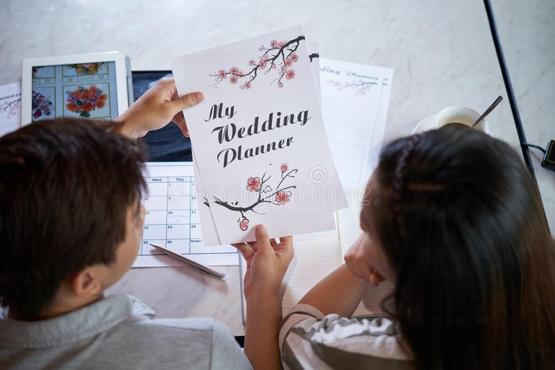 Wedding Preparations at Full Speed stock photography