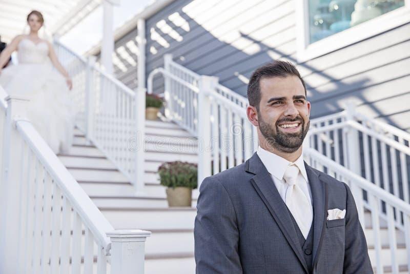 Wedding primeiramente o olhar foto de stock royalty free