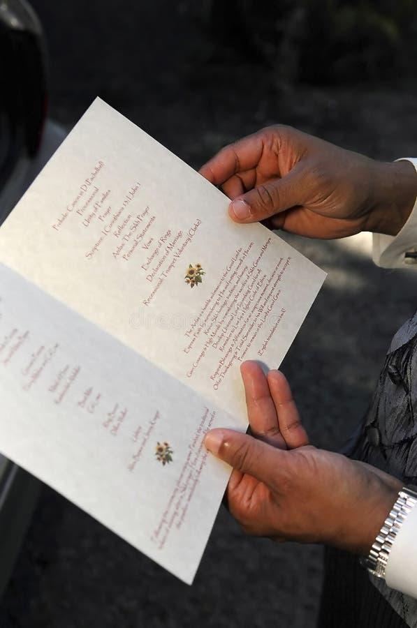 Download Wedding program stock image. Image of marrying, joyful - 2082011