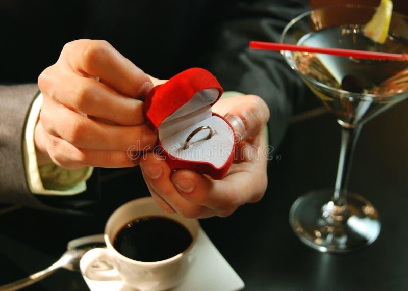 Wedding proposing stock images