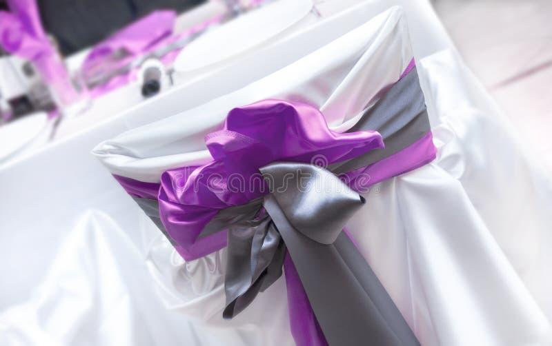 Wedding purple bow stock photography