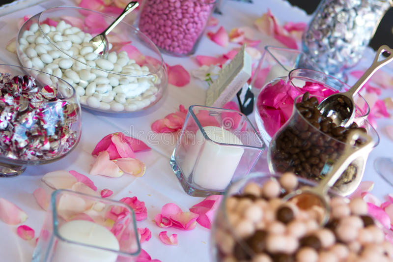 Download Wedding Reception Candy Table. Stock Image - Image: 12127465