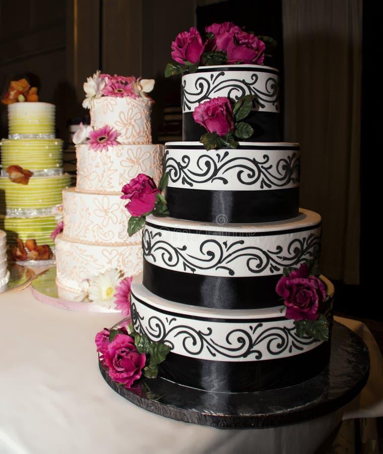 Wedding Reception Celebration Cakes stock image