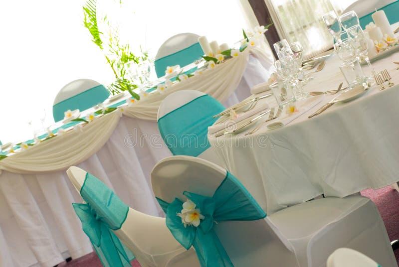 Wedding reception display stock images