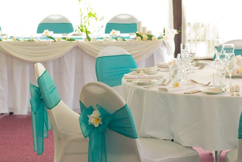 Wedding reception display stock image