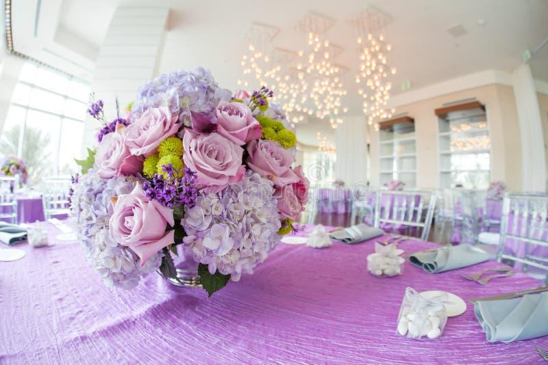 Wedding reception flower bouquet royalty free stock image