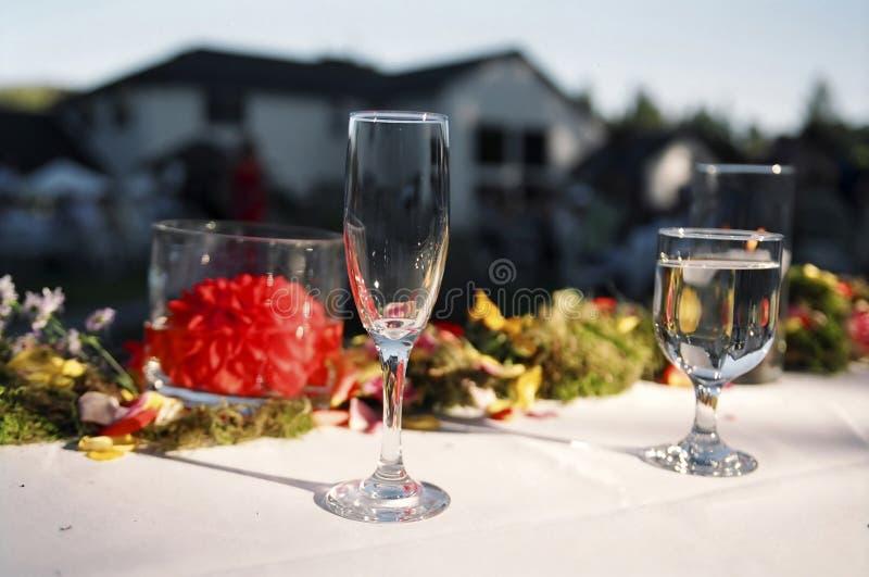 Wedding reception food. Food on table at wedding reception royalty free stock photos