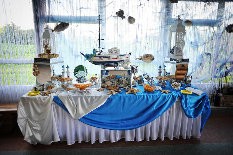 Wedding Reception. Of food and drink stock photo