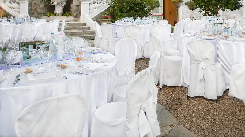 Wedding reception outdoor royalty free stock photography