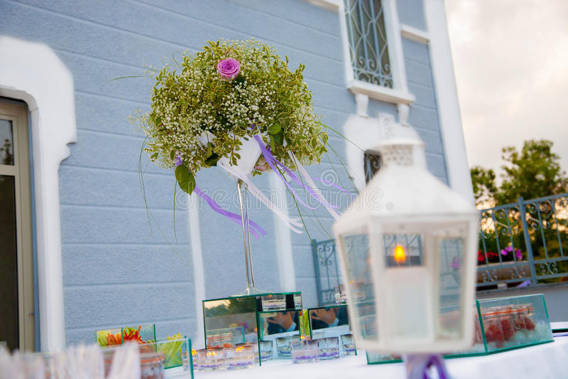 Wedding reception outdoor stock photography